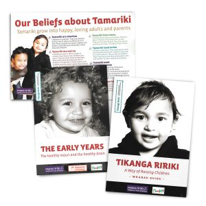 Whanau Pack, including Our Beliefs about Tamariki, The Early Years, and Tikanga Ririki